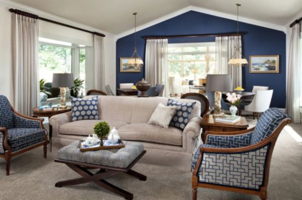 29 Cool Designs Brown And Blue for Living Room Round Decor