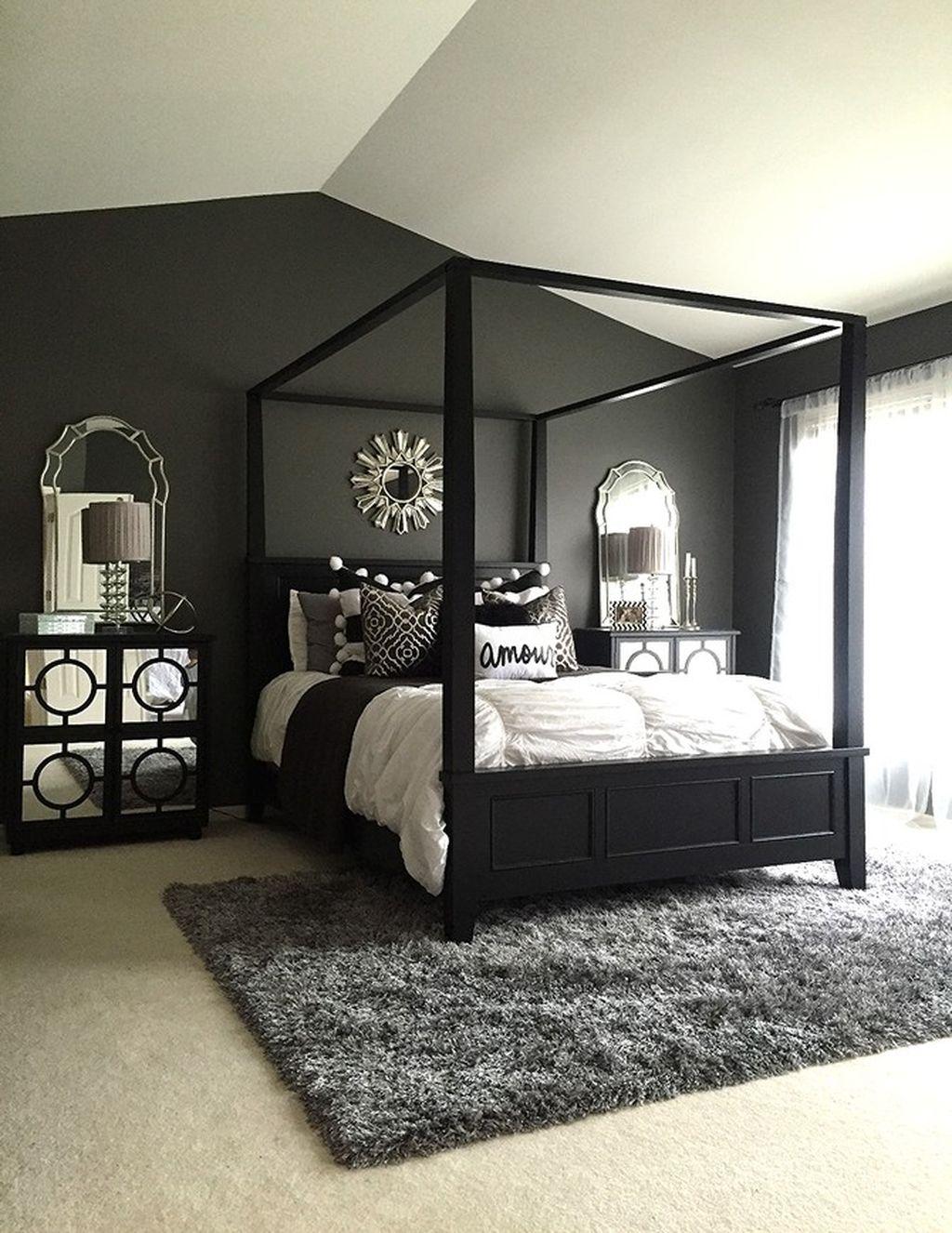 Stylish stylish black and white bedroom ideas (36) - ROUNDECOR