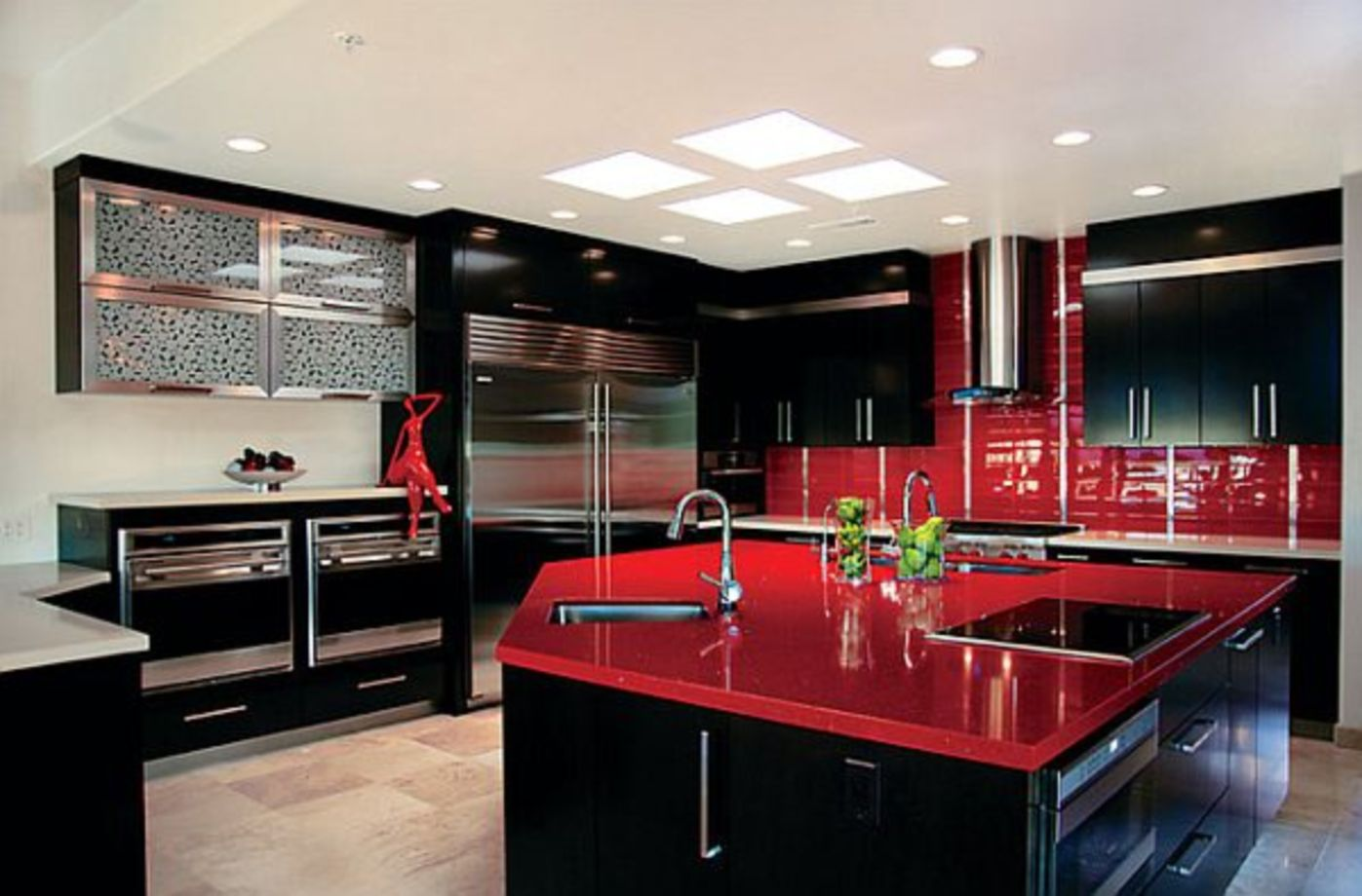 Beau Amazing Black And Red Kitchen Decor 41