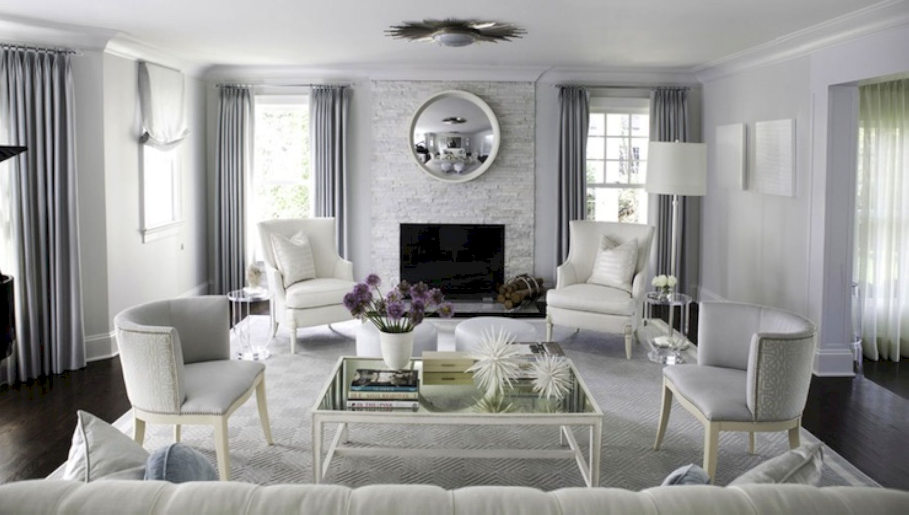 70 stunning gray and white living room decor ideas roundecor - Black and white and grey living room ...