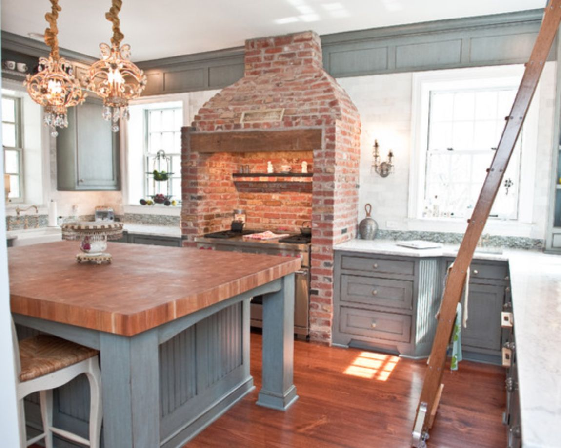 80 Creative And Cute Exposed Brick Kitchen Ideas Round Decor