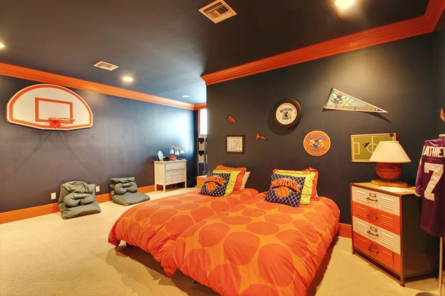 76 inspiring bedroom design ideas for boy who loves - Comely pictures of basketball themed bedroom decoration ideas ...