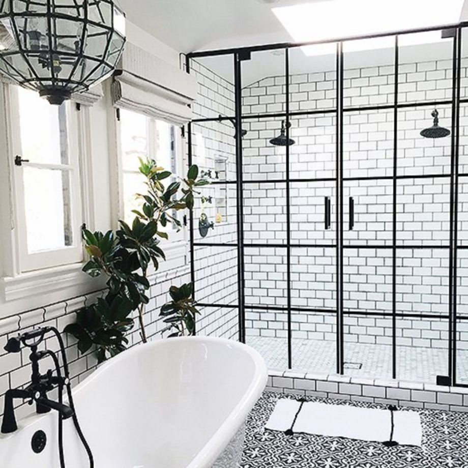 47 Stylish White Subway Tile Bathroom Ideas for Your Reference ...