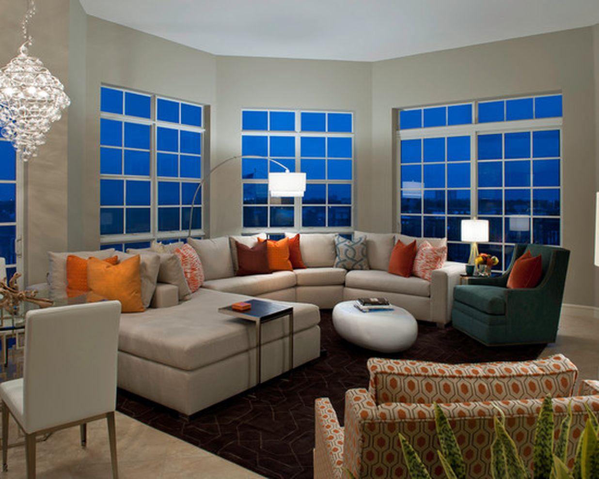Adorable burnt orange and teal living room ideas 33 - Orange and teal decor ...