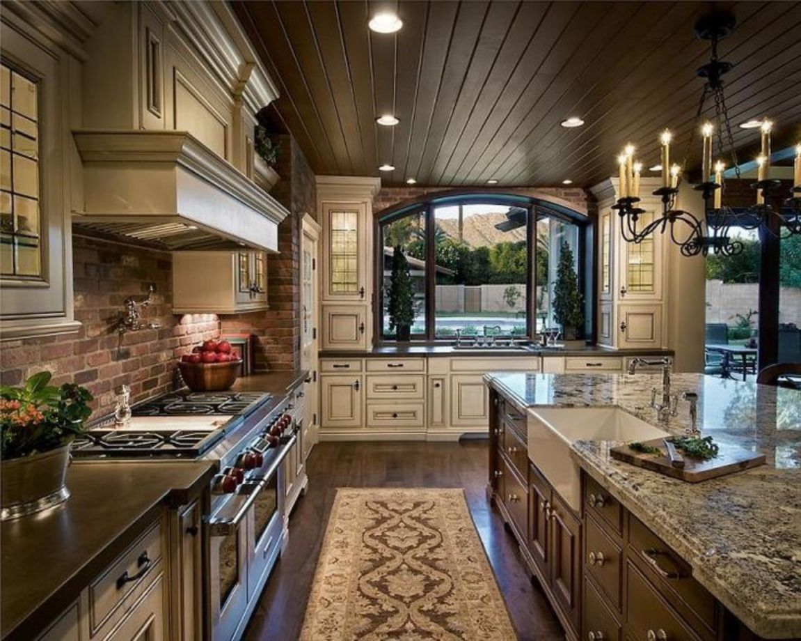 146 Amazing Small Kitchen Ideas That Perfect For Your Tiny: 80 Amazing Cream And Dark Wood Kitchens Ideas