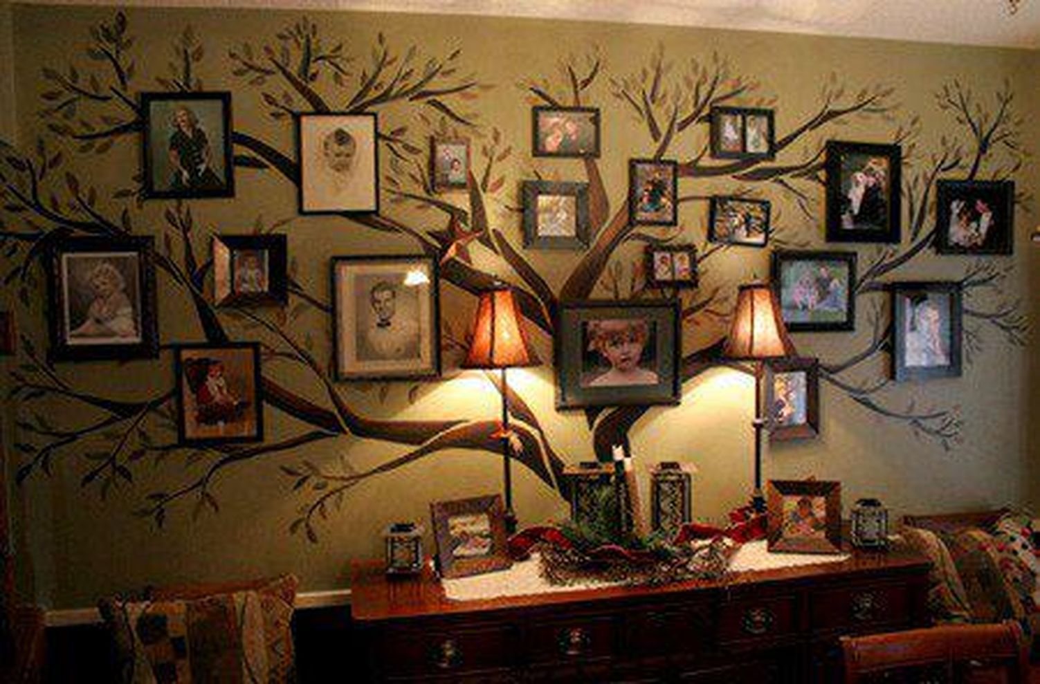 73 cool decorating ideas for large living room wall - Family room wall decor ideas ...