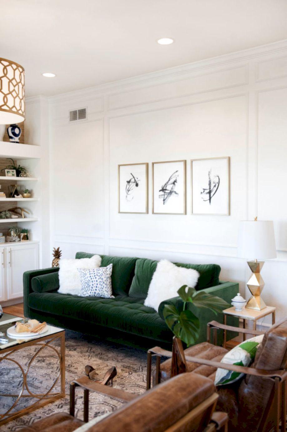 Dark green living room furniture 40 - Round Decor