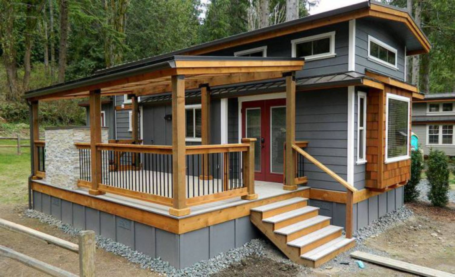 Exterior paint color ideas for mobile homes 05 - ROUNDECOR
