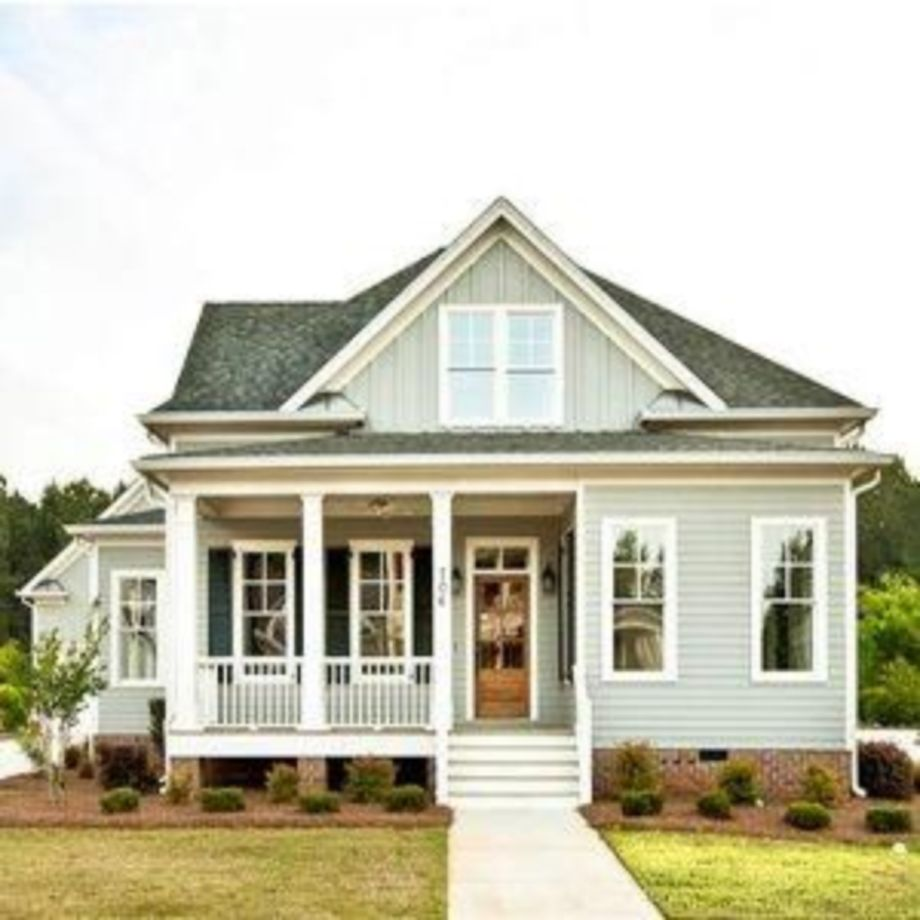 Exterior paint color ideas with red brick 08 - Round Decor