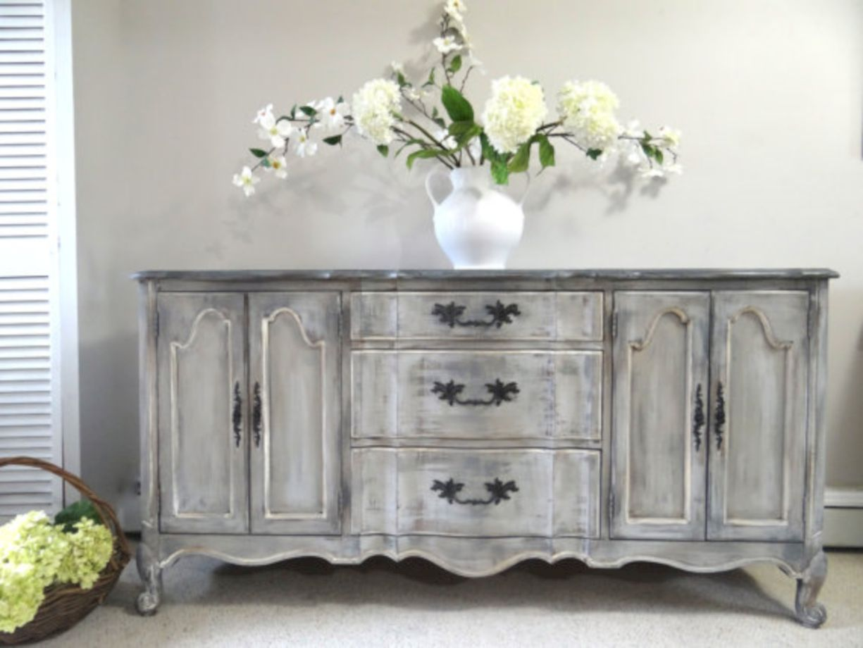 57 stylish gray shabby chic furniture ideas round decor for Shabby chic furniture