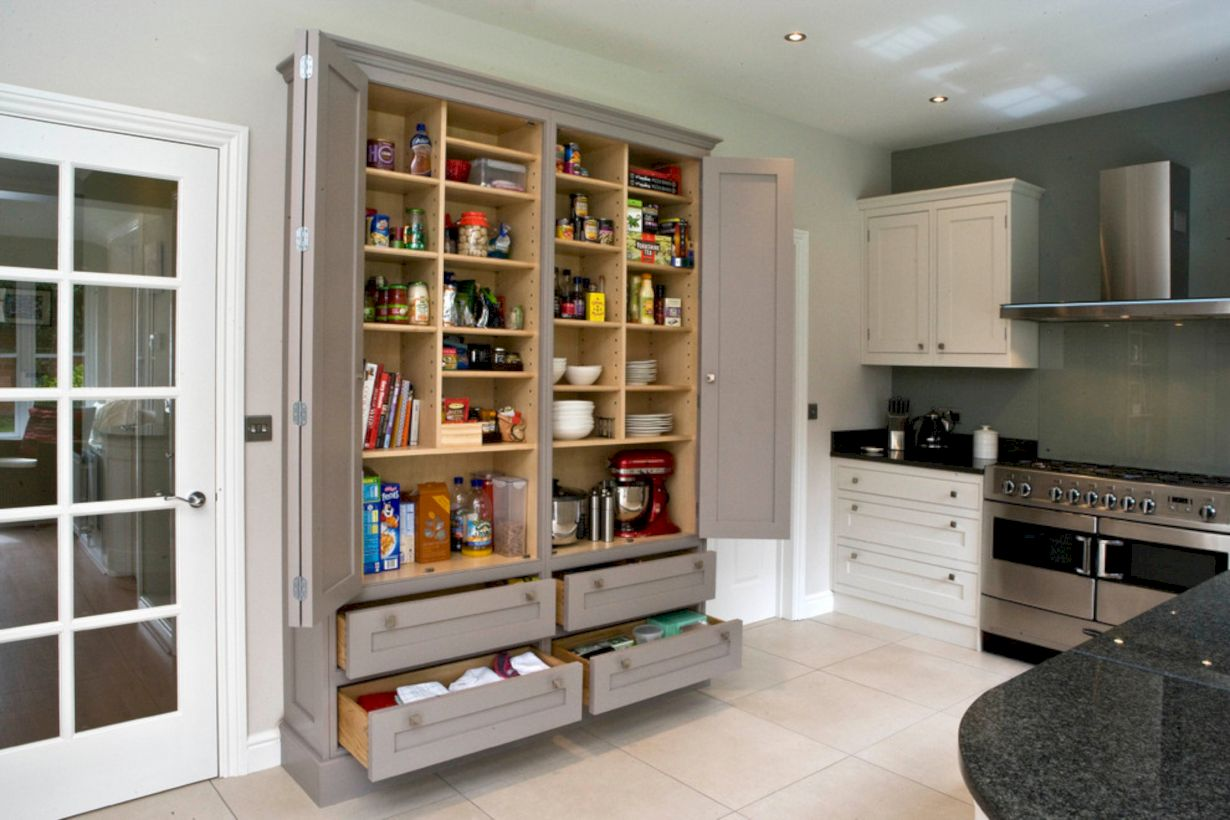 55 Amazing Stand Alone Kitchen Pantry Design Ideas - Round Decor