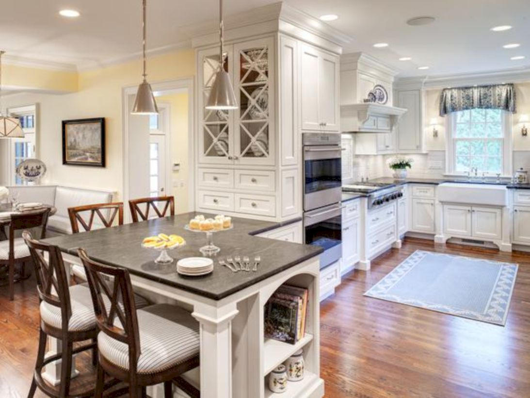 Kitchen Table Design Decorating Ideas Hgtv Pictures: Inspiring U Shaped Kitchen Ideas With Breakfast Bar (33