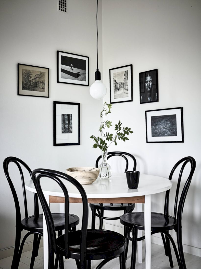 Mid century scandinavian dining room design ideas 57 Scandinavian style dining room