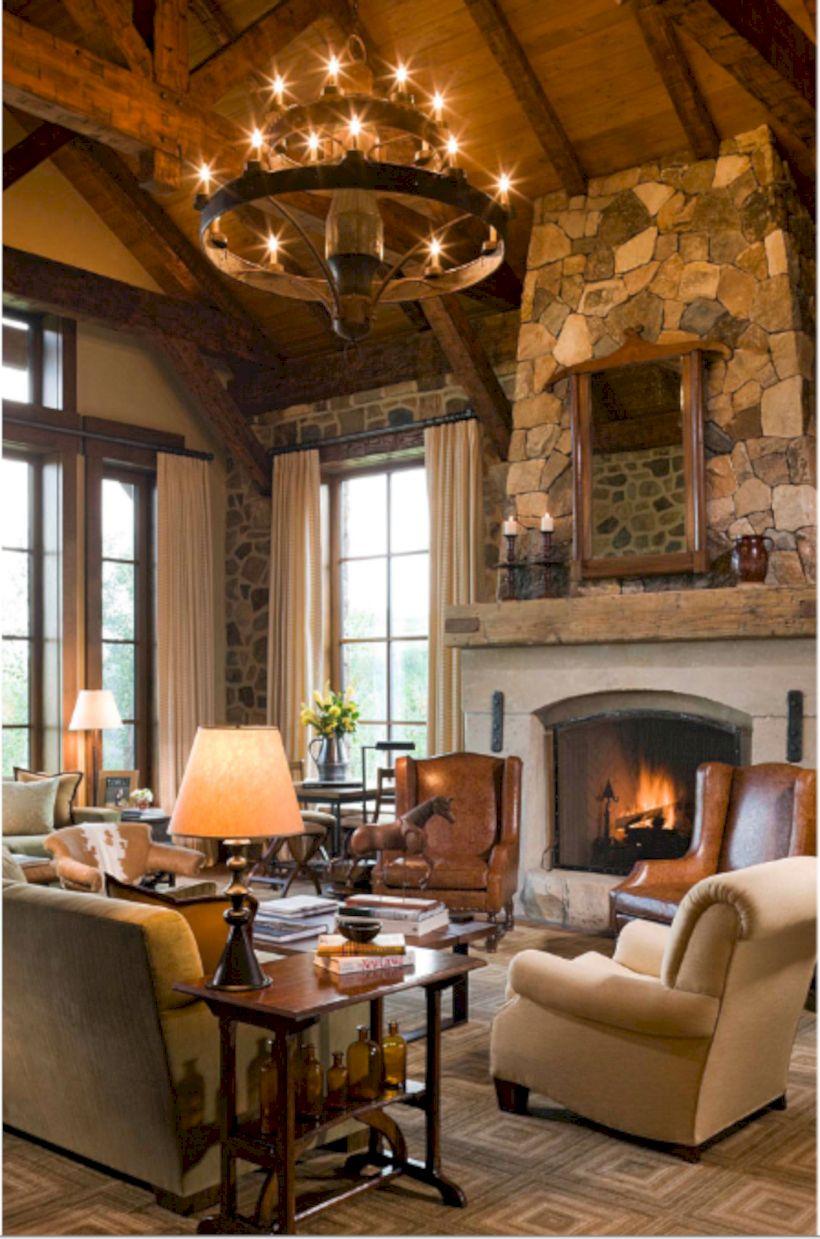 rustic living room curtains design ideas 14  roundecor