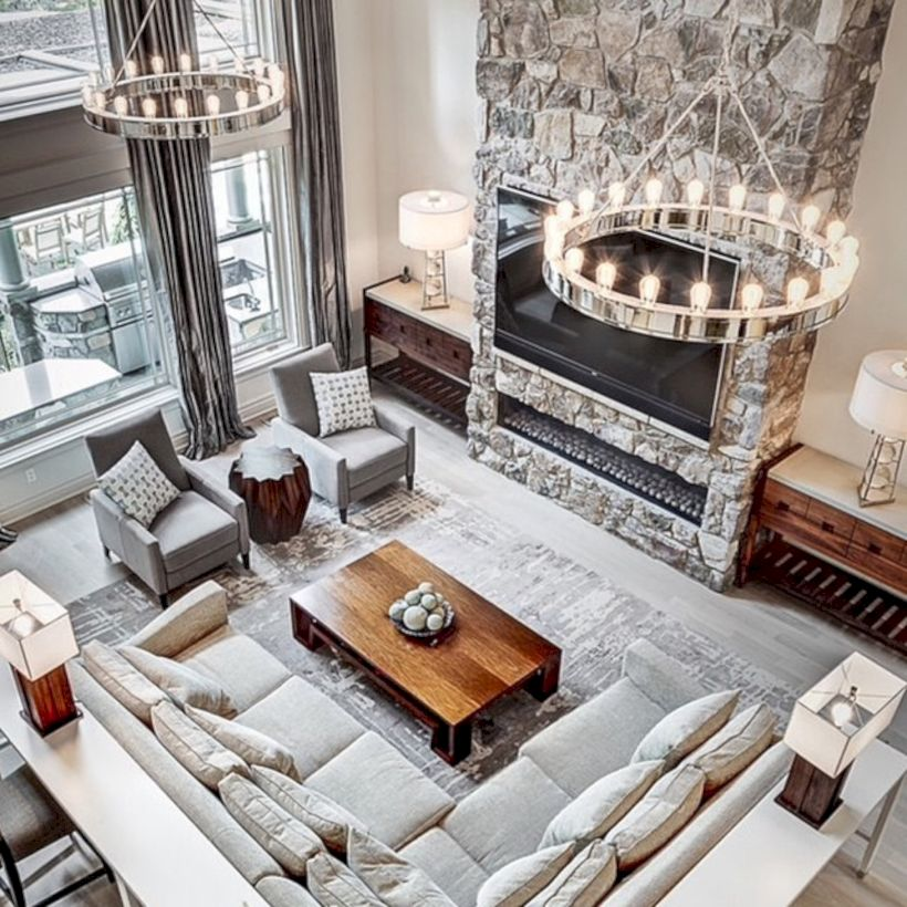 Living Rooms Layouts: Rustic Living Room Curtains Design Ideas (26)