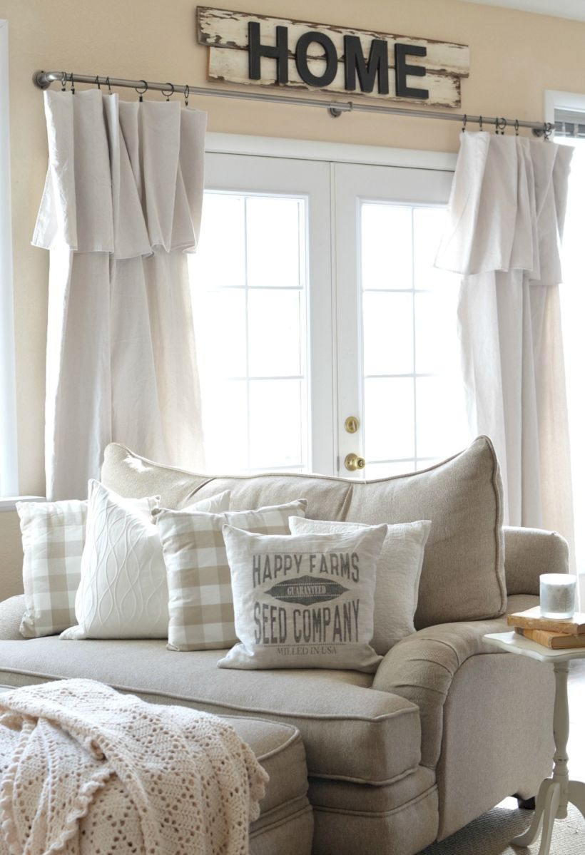 Rustic Living Room Curtains Design Ideas 28 Roundecor