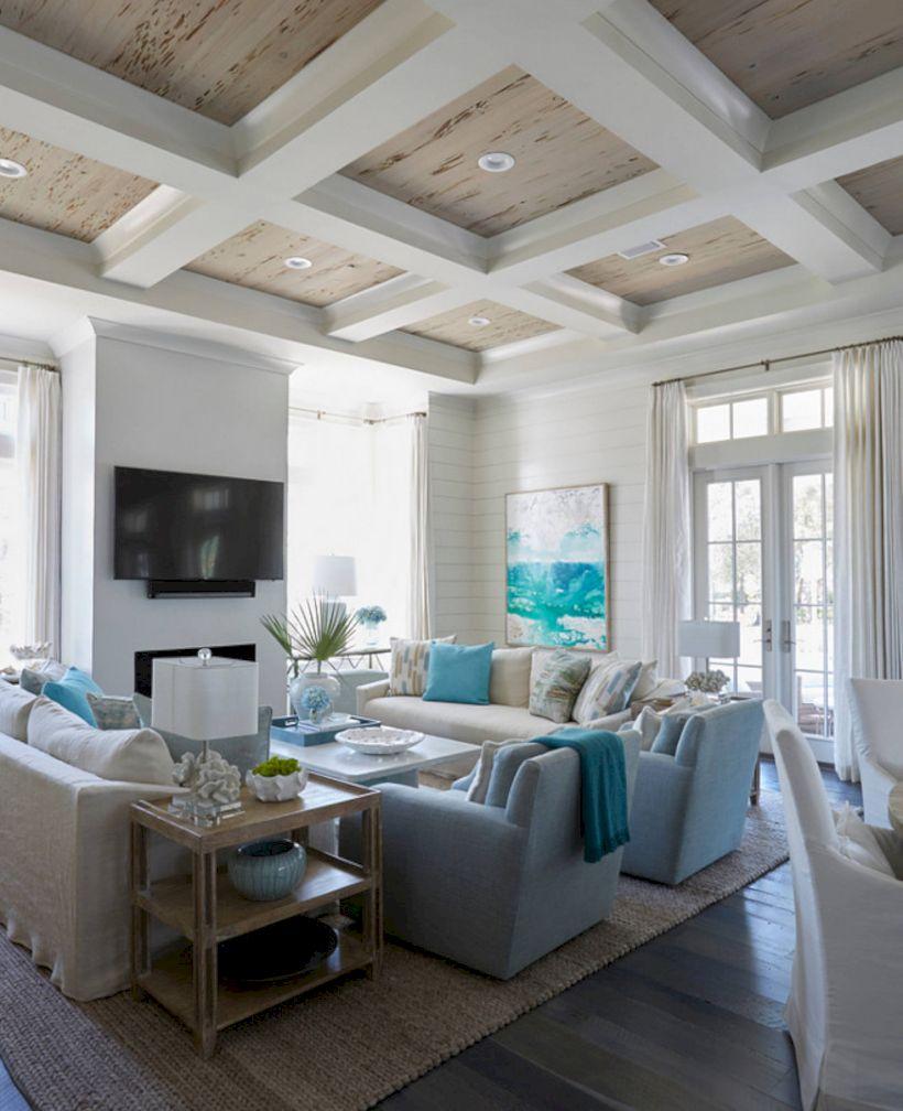 Rustic Living Room Curtains Design Ideas (7)