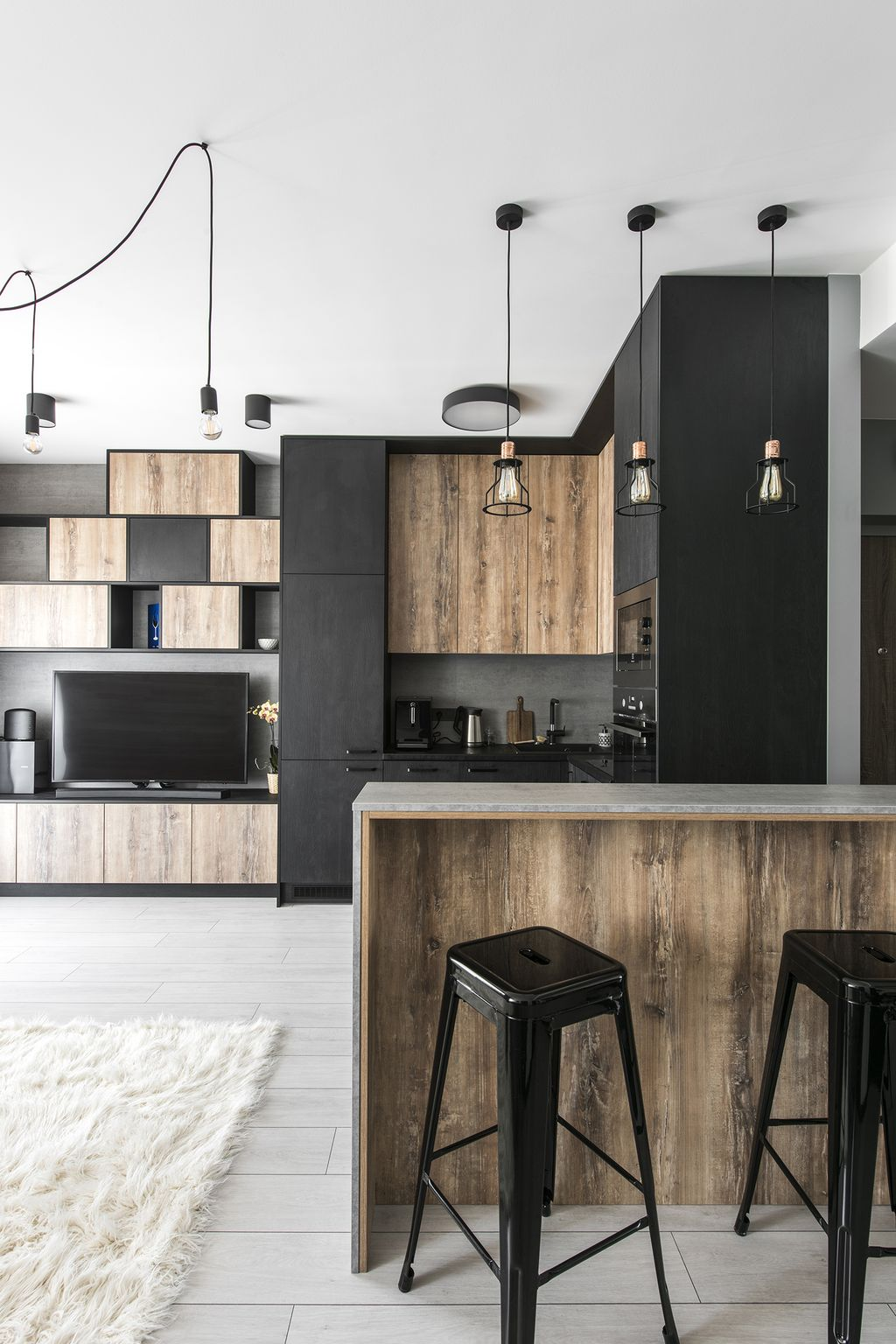 Small Modern Industrial Apartment Decoration Ideas 51 Round Decor