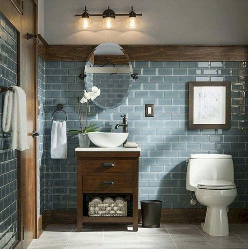 Beautiful subway tile bathroom remodel and renovation (34)