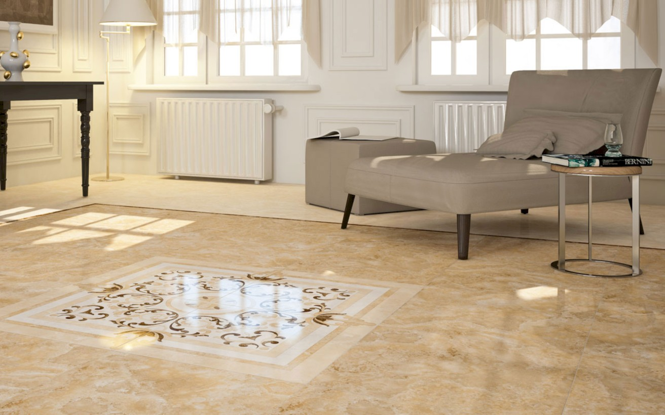 Classy living room floor tiles design ideas 33 - ROUNDECOR