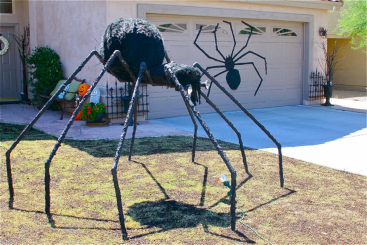 Creative diy halloween outdoor decoration ideas 40