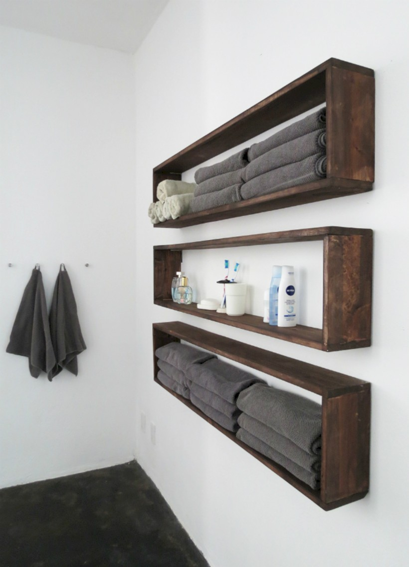 Creative storage bathroom ideas for space saving (33) - Round Decor