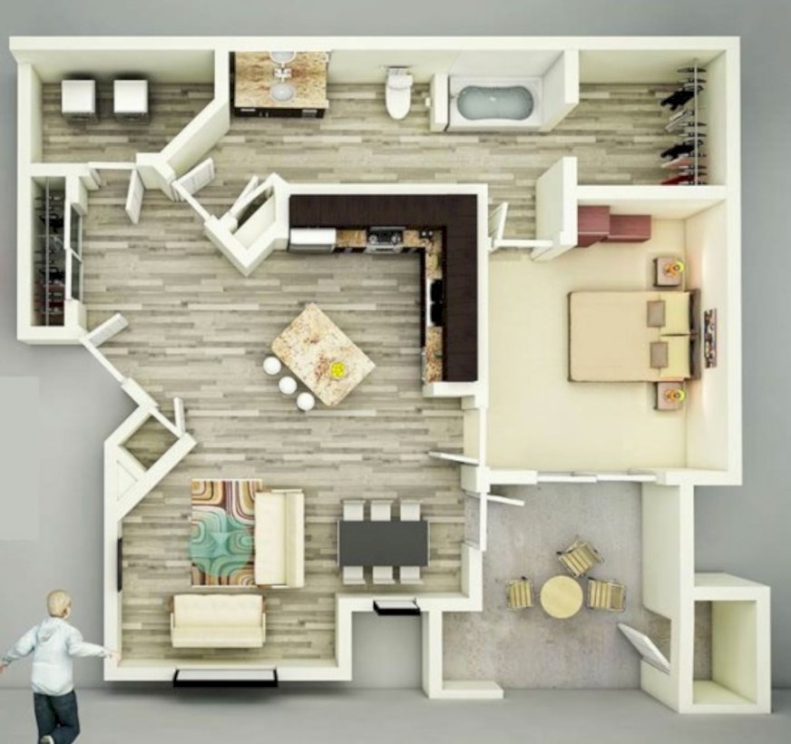 Creative Two Bedroom Apartment Plans Ideas 40 Round Decor Best Two Bedroom Apartment Plan Creative
