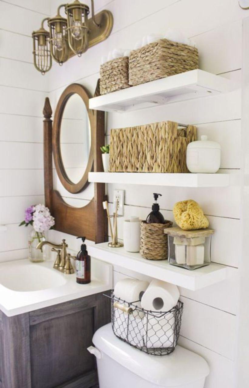Farmhouse Bathroom Ideas For Small Space 51 Round Decor
