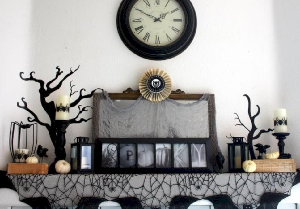 Great halloween mantel decorating ideas 07