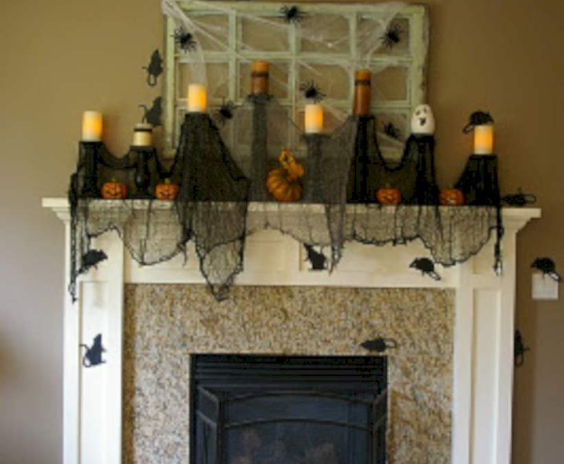 Great halloween mantel decorating ideas 20