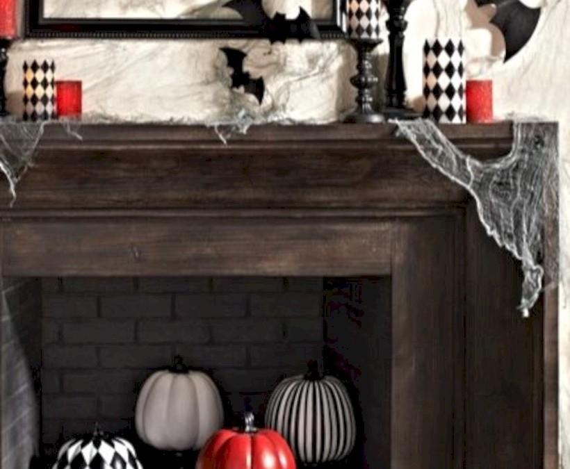 Great halloween mantel decorating ideas 30