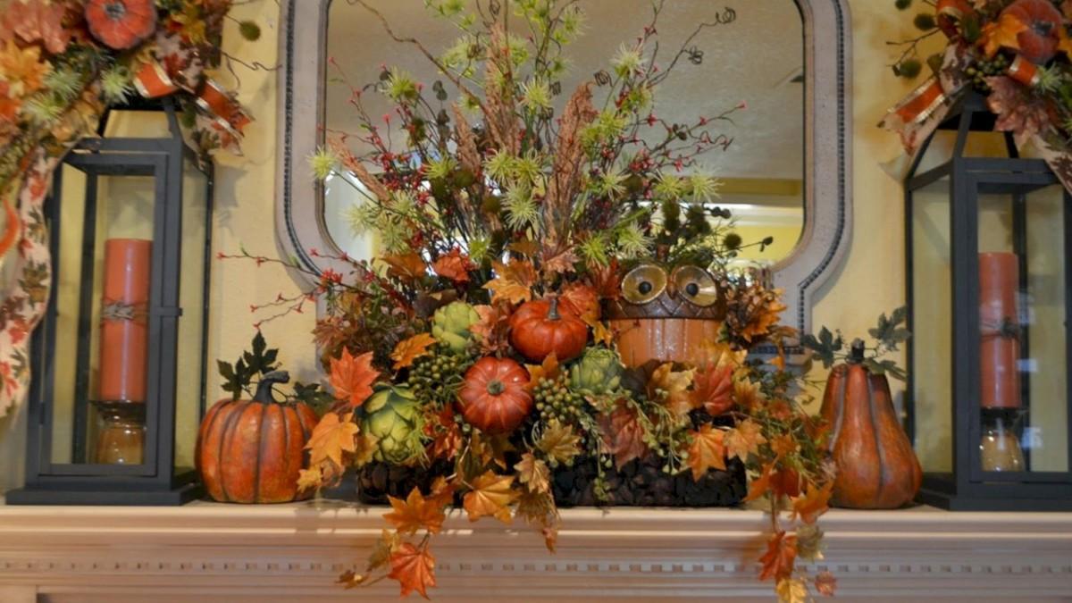 Great halloween mantel decorating ideas 33