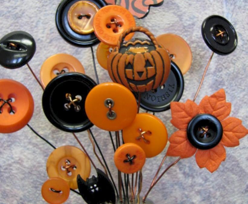 Great halloween mantel decorating ideas 35