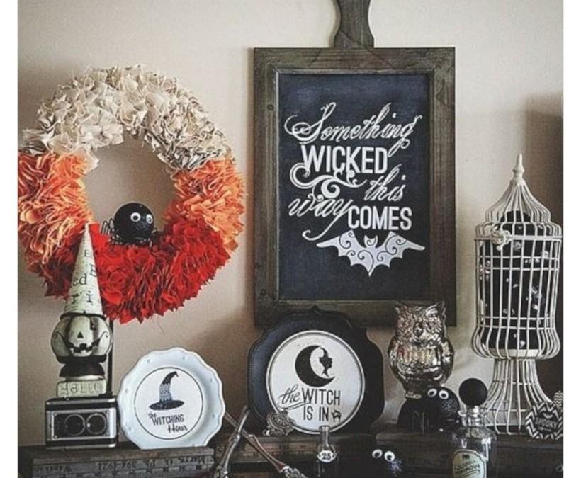 Great halloween mantel decorating ideas 44