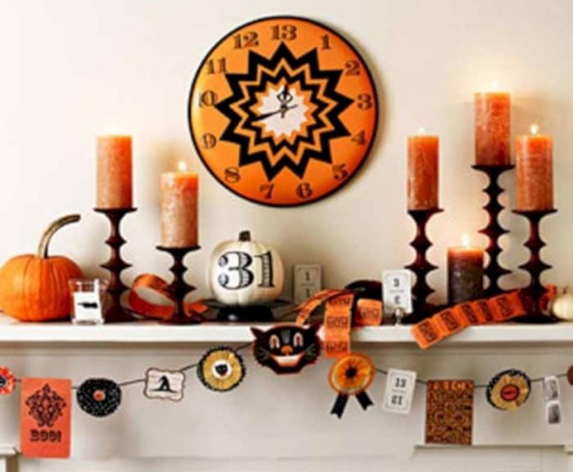 Great halloween mantel decorating ideas 45