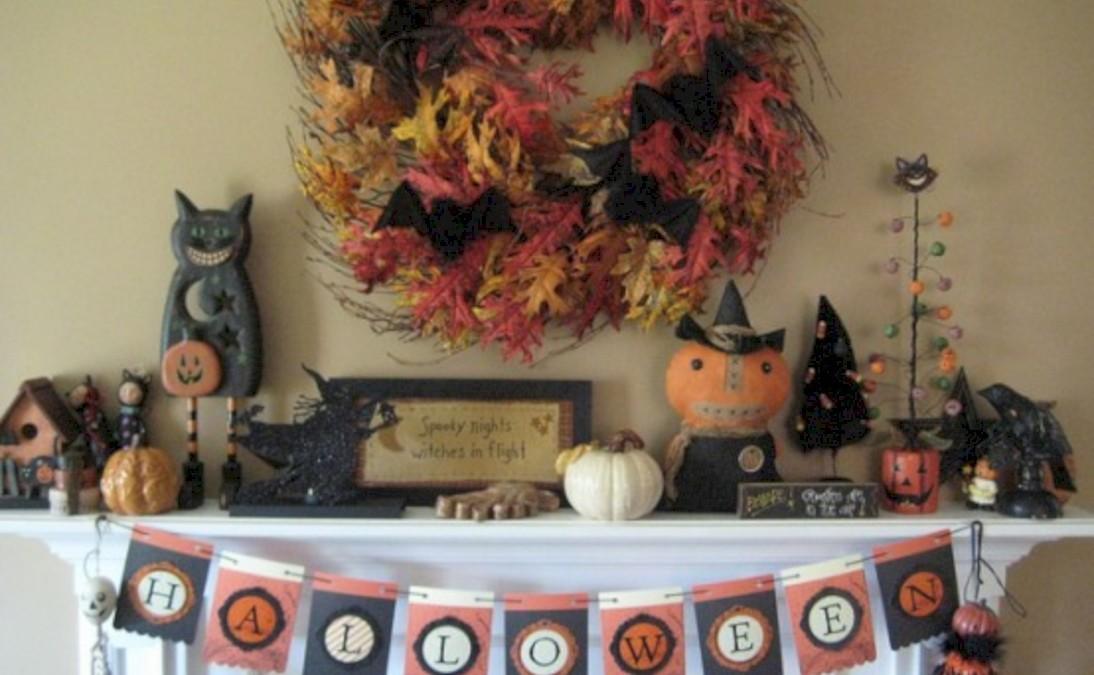Great halloween mantel decorating ideas 49