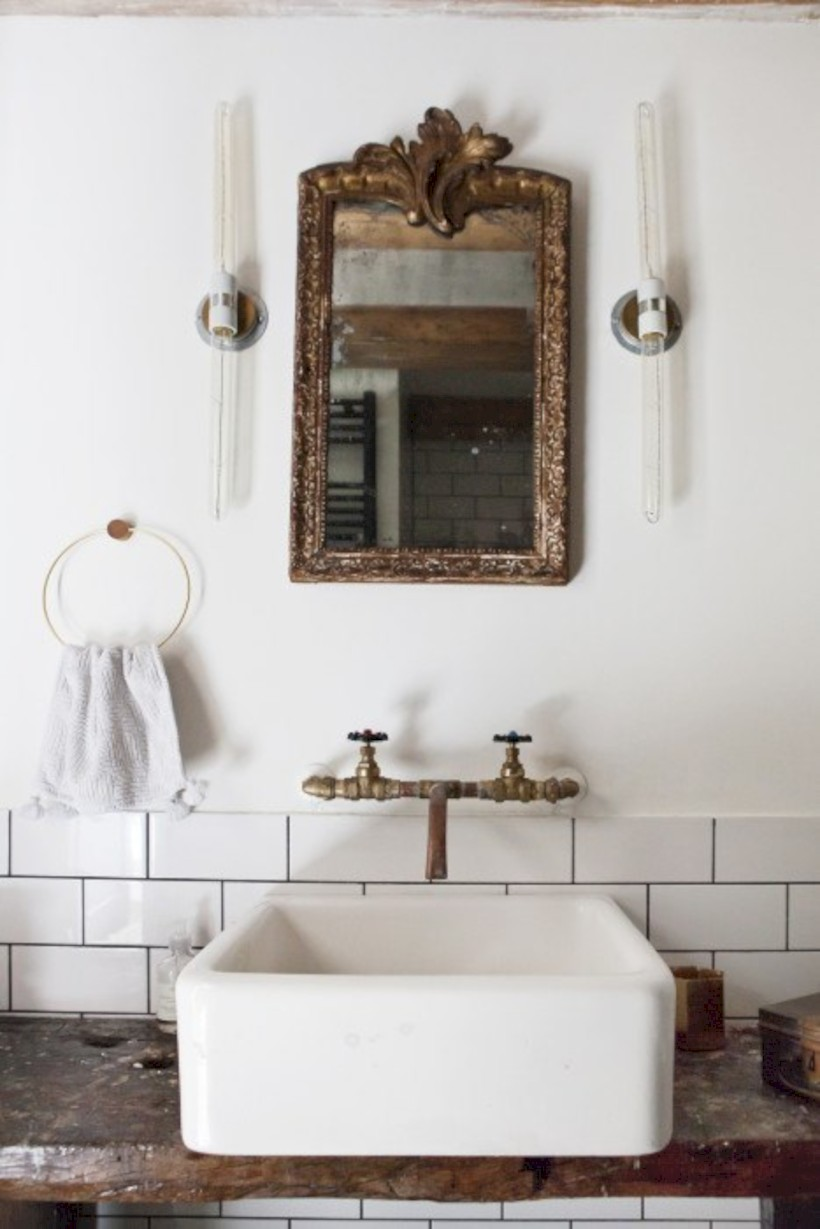 Industrial vintage bathroom ideas (56) - Round Decor