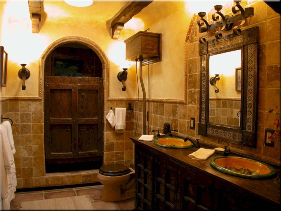 52 Mediterranean Themed Bathroom Designs Ideas Round Decor