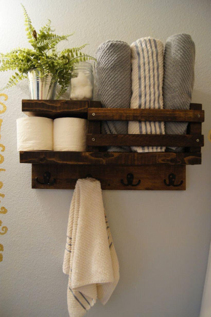 Decorative Rustic Storage Projects For Your Bathroom: Rustic Diy Bathroom Storage Ideas (14)