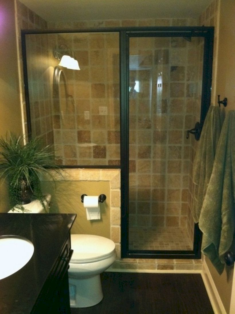 52 Small Bathroom Ideas on a Budget - ROUNDECOR on Simple Bathroom Designs For Small Spaces  id=95753