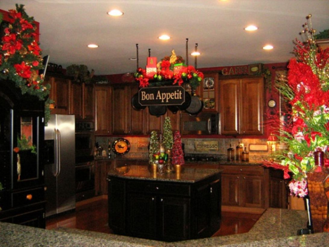 54 stunning christmas kitchen d coration ideas round decor for Not just kitchen ideas