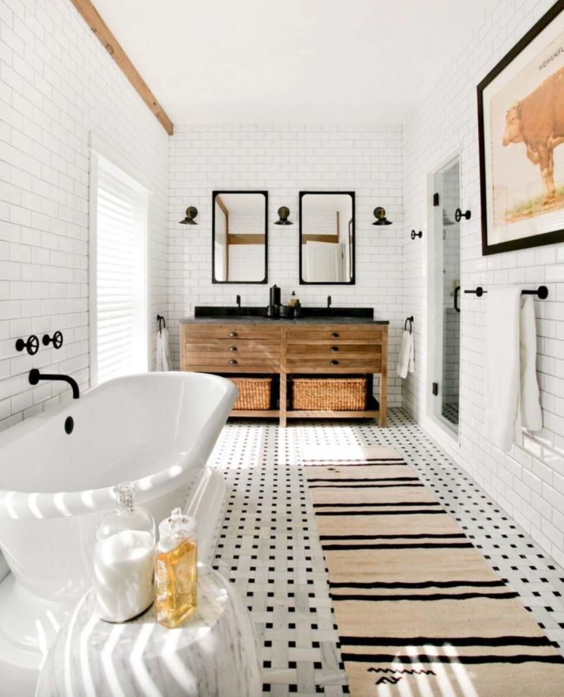53 vintage farmhouse bathroom ideas 2017 round decor Bathroom tile ideas 2017