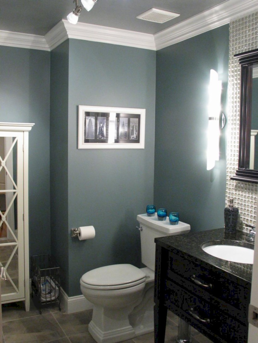 33 Vintage Paint Colors Bathroom Ideas - Round Decor