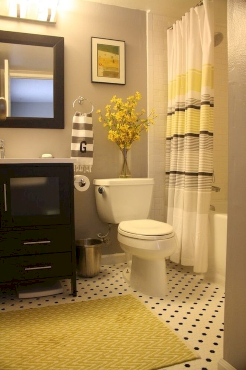 Yellow Tile Bathroom Paint Colors Ideas 8 Round Decor