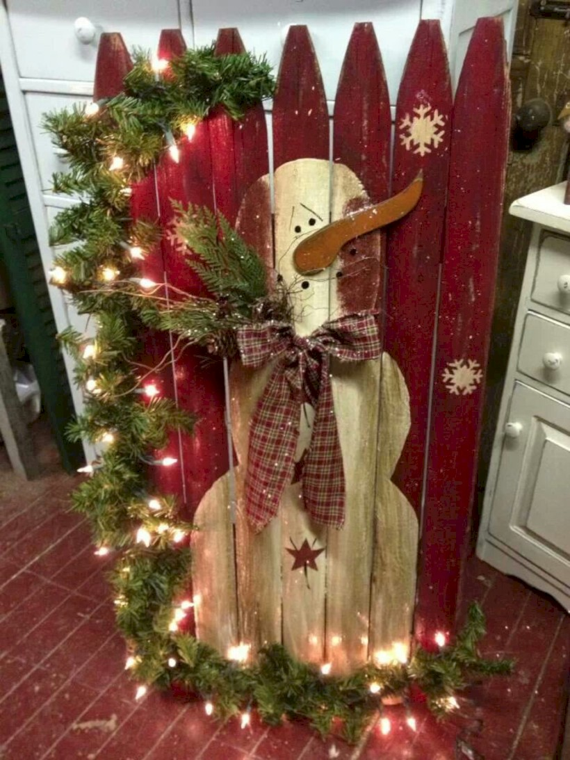 Cool homemade outdoor christmas decorations ideas round decor
