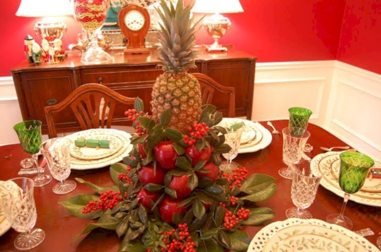 Easy christmas fruit tree centerpieces ideas round decor