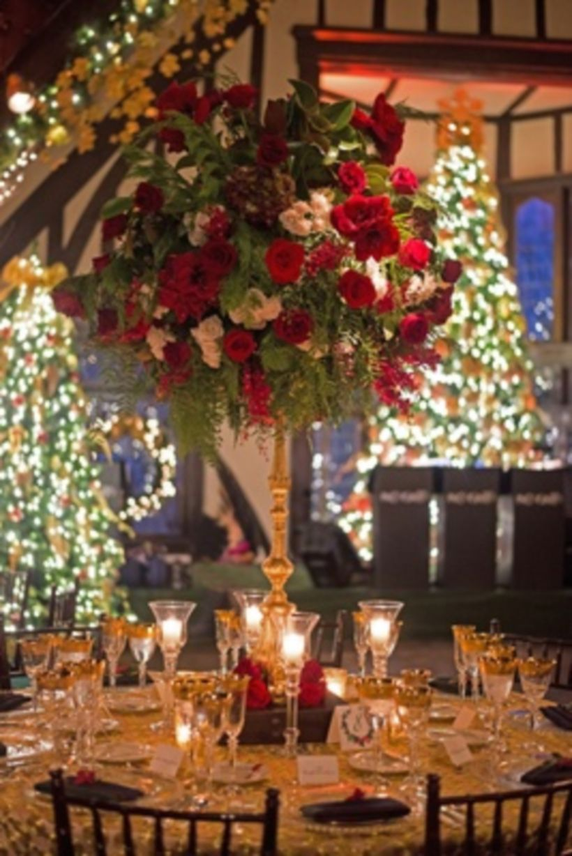 Published November 14, 2017 at 820 × 1228 in 36 Romantic Christmas Tree Wedding Centerpieces Ideas
