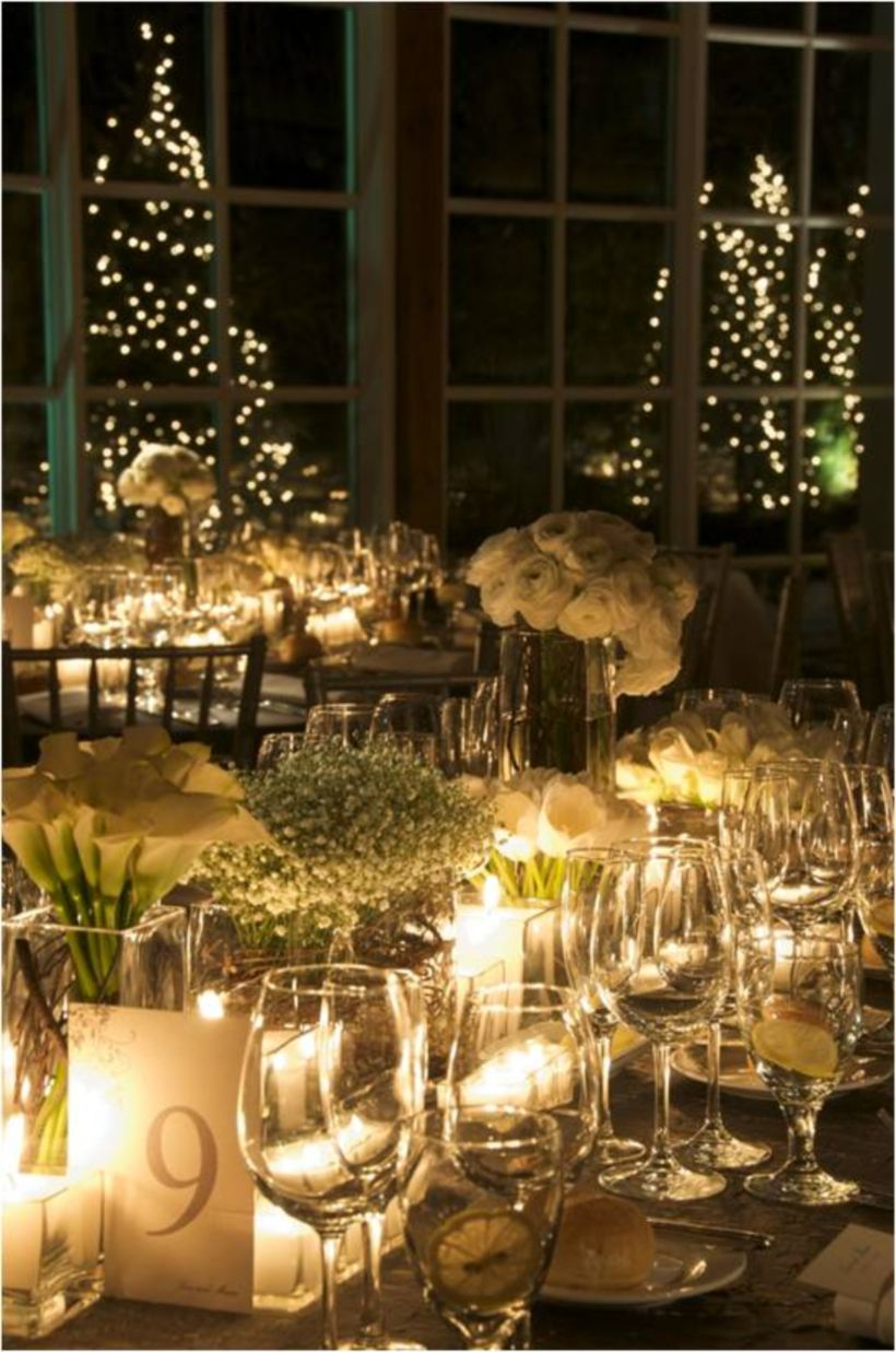 Published November 14, 2017 at 820 × 1237 in 36 Romantic Christmas Tree Wedding Centerpieces Ideas