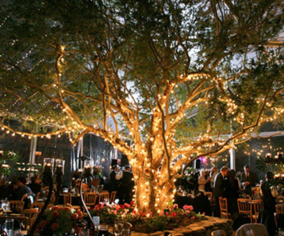 Romantic christmas tree wedding centerpieces ideas round decor