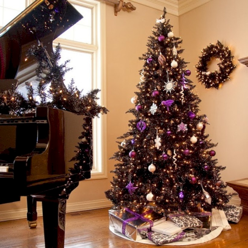Unusual Black Christmas Tree Decoration Ideas 40 Roundecor